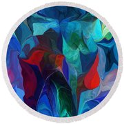 Abstract 021612 Round Beach Towel