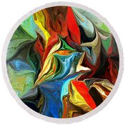 Abstract 021712 Round Beach Towel