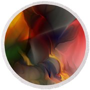 Abstract 021912a Round Beach Towel