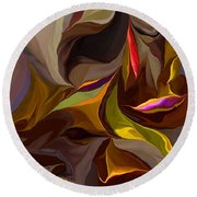 Abstract 022212 Round Beach Towel