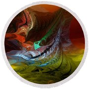 Abstract 022712 Round Beach Towel