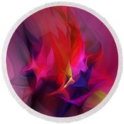 Abstract 031412 Round Beach Towel