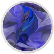 Abstract 032912a Round Beach Towel