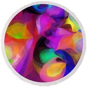 Abstract 041412 Round Beach Towel