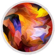 Abstract 050312 Round Beach Towel