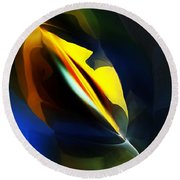 Abstract 051112 Round Beach Towel