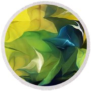 Abstract 052912 Round Beach Towel