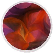 Abstract 071812 Round Beach Towel