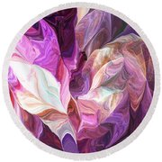 Abstract 072512 Round Beach Towel