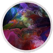 Abstract 072812 Round Beach Towel