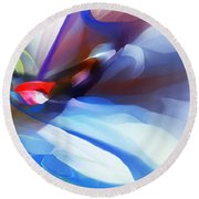 Abstract 081712 Round Beach Towel