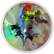 Abstract 082412-1 Round Beach Towel