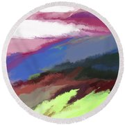 Abstract 082511 Round Beach Towel
