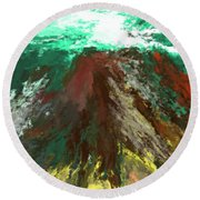 abstract 082511A Round Beach Towel