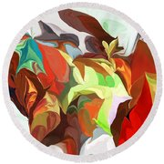 Abstract 090112 Round Beach Towel