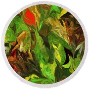 Abstract 090512a Round Beach Towel