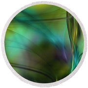 Abstract 090711a Round Beach Towel