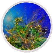 Abstract 090811 Round Beach Towel