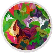 Abstract 090912 Round Beach Towel