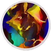 Abstract 091412 Round Beach Towel