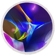 Abstract 091612 Round Beach Towel