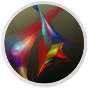 Abstract 091612a Round Beach Towel