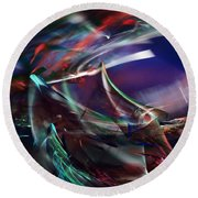 abstract 092111A Round Beach Towel