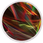 Abstract 092611 Round Beach Towel