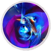 Abstract 092612 Round Beach Towel