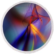 Abstract 101211 Round Beach Towel