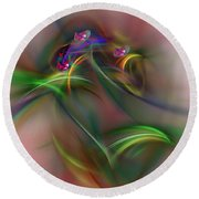 Abstract 101211b Round Beach Towel