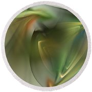 Abstract 101311f Round Beach Towel