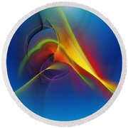 Abstract 101711 Round Beach Towel
