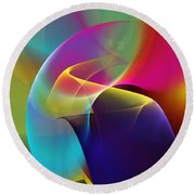 Abstract 102511 Round Beach Towel