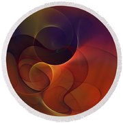 Abstract 102611c Round Beach Towel