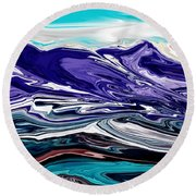 Abstract 102711 Round Beach Towel