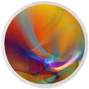 Abstract 110211 Round Beach Towel