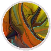 Abstract 110311 Round Beach Towel