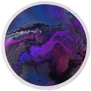Abstract 112711a Round Beach Towel