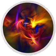 Abstract 112811b Round Beach Towel