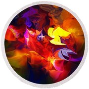 Abstract 120711 Round Beach Towel
