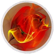 Abstract 121111 Round Beach Towel