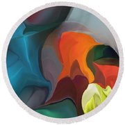 Abstract 122211 Round Beach Towel