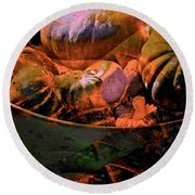 Abstract 123 Round Beach Towel