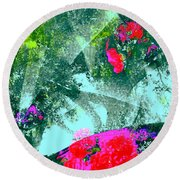 Abstract 127 Round Beach Towel