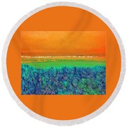 Abstract 133 Round Beach Towel