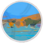 Abstract 159 Round Beach Towel