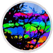 Abstract 174 Round Beach Towel