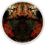Abstract 178 Round Beach Towel