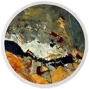 Abstract 1811014 Round Beach Towel